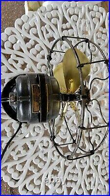 Vintage Antique Century 9 inch Brass Blade Electric Fan Restored