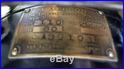 Vintage Antique Emerson 12 Oscillating, 3-Sp, 6-Brass Blades, Big Motor 29666