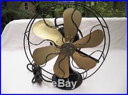 Vintage Antique GE 6 Blade 12 Oscillating 2 Star Electric Fan
