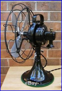 Vintage Antique GE Fan. 12 Aluminum Blades. 3 Speeds. Beautifully Reworked