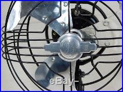 Vintage Antique GE Vortalex Fan. 9 Inch Blades. Runs/Oscillates Smoothly. Nice