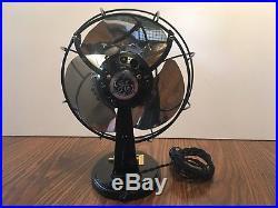 Vintage Antique GE bullet nose electric fan c1930s restored