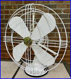 Vintage/Antique General Electric Oscillating Fan. Just Reworked! 3 Spd, Beauty