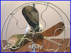 Vintage Antique General Electric WHIZ fan 1920's brass blade RESTORED