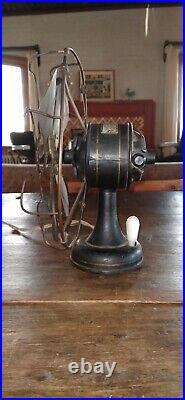 Vintage Antique Iris Electric Fan with brushes 8 inches