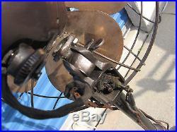 Vintage Antique Steampunk Emerson Electric Pedestal Fan 6250-AK Brass Blades