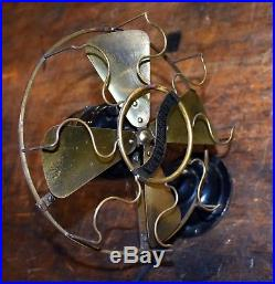 Vintage Antique Westinghouse 8 Brass Blade Fan Runs Great Very Nice Original