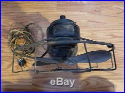 Vintage/Antique Westinghouse Electric 12 Brass Blade And Cage Fan. Working