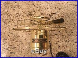 Vintage Antique brass Westinghouse electric fan 8 blade 1912 restored