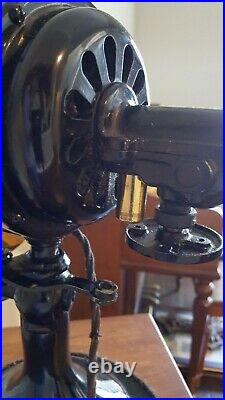 Vintage Antique fan Robins Myers 2410 with Brass Fan Blades