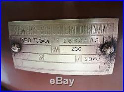 Vintage Ceiling Fan Siemens Schuckert Made In Germany Kw 230 Antique Ceiling Fan