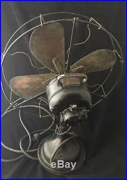Vintage Century S3-16 Model 15 Electric Fan Brass Blades Blade Works Antique