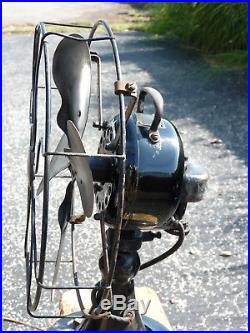 Vintage Emerson 29646 Desk Fan WORKS! Oscillating Antique ca. 1920's-1930's