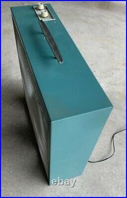 Vintage Emerson Electric Mid Century 20 Box Fan Aqua Two Way Works 746310AY