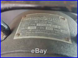 Vintage Emerson Electric Table Fan 12 Blade 3-speed Type 79646-AP-G Antique