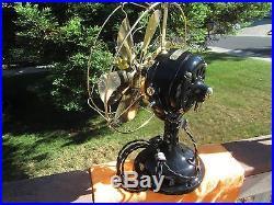 Vintage Fan Antique Fan 6 Wing Ge Brass Blade Fan Antique General Electric Fan