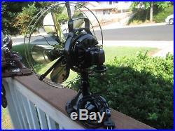 Vintage Fan Antique Fan Ge Fan 6 Wing 3 Star Brass Blade Fan Brass Cage Fan 1915