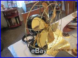 Vintage Fan Antique Fan Ge Fan 6 Wing Brass Blade Fan General Electric Fan