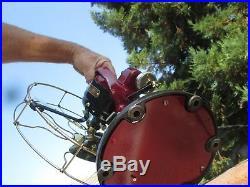 Vintage Fan Antique Fan Ge Star Oscillator Fan Brass Blade Ge Electric Fan