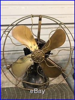 Vintage Fan Antique Fan Vintage Ge Fan Brass Blade Fan General Electric Fan