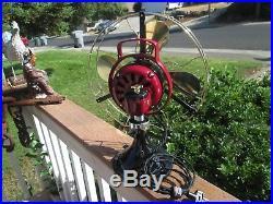 Vintage Fan Antique Fan Vintage Ge Fan Brass Blade Fan Old Iron Ge Electric Fan