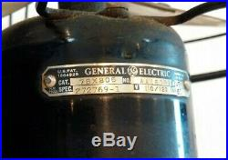 Vintage GE General Electric 3 Speed Fan Works Cage 1930s 1940s Antique Black