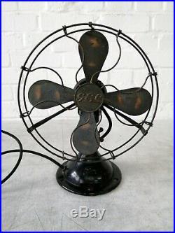 Vintage GEC (General Electric Company) Electric Fan Art Deco 1930's WW2