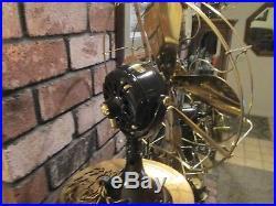 Vintage Ge Fan Hunter Electric Fan Vintage Brass Blade Fan Antique Hunter Fan