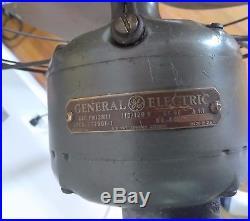 Vintage General Electric 12 VORTALEX Floor Pedestal Fan Art Deco STEAMPUNK
