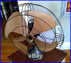 Vintage General Electric 16 VORTALEX ART DECO OSCILLATING FAN STEAMPUNK