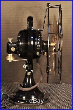 Vintage General Electric Brass Blade Bell Oscillator CAST IRON ERA FAN WORKS