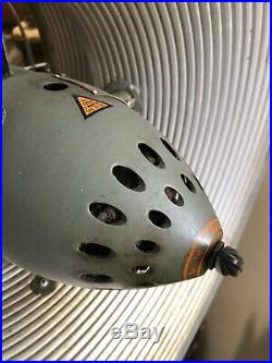 Vintage Green Vornado Aire Circulator Pedestal Fan Antique works Bullseye Grill