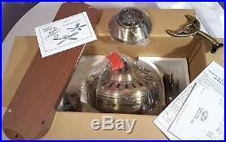 Vintage Hunter Ceiling Fan Passport II Antique Brass 25530 New In Box 1991-1993
