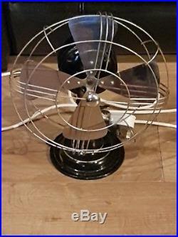 Vintage Industrial REVO Electric Metal Desk Factory Office Fan 10'' diameter