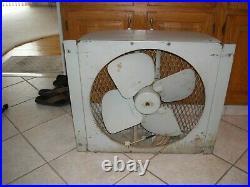 Vintage Large Emerson Electric Industrial Window Fan Cat. No. 76310 R2
