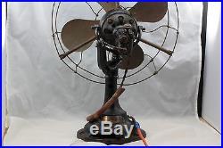 Vintage Verity''Orbit''electric fan. 12inch. Art deco. Oscilating. Unrestored. 1930's