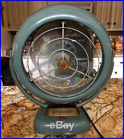 Vintage Vornado 20c2-1 Table Fan Industrial Design Classic Retro Atomic Antique