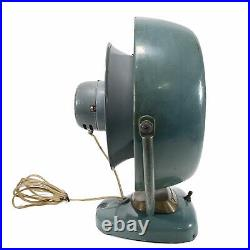 Vintage Vornado Fan Model B20C1 Electric Desktop Blue Metal 2 Speed Working