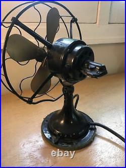 Vintage Western Electric Brass Blade Oscillating Electric Fan 12'