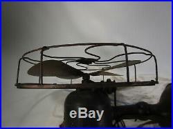 Vintage Western Electric Brass Blade Oscillating antique Fan 12'' D371081