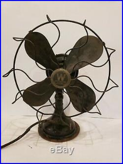 Vintage Westinghouse Whirlwind Oscillating Electric Fan 315745a Antique