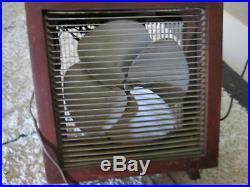 Vintage Wooden Box Fan Antique Mathes Cooler Model 542 2 speed 17