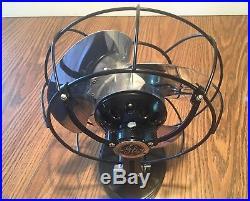 Vintage antique GE electric fan 1931 Bullet nose fan Restored