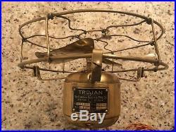 Vintage antique emerson Trojan electric fan 1911 brass fan