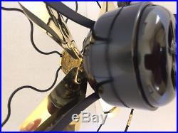Vintage antique1919 GE 9 in Whiz Fan Electric W Brass Blades Restored L@@K