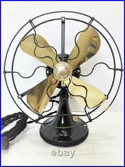 Vintage antique1920's 9 GE Whiz Electric Fan Brass Blade Custom Cast Base