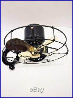 Vintage antique1920s GE 9 in Whiz Fan Electric W Brass Blades Restored L@@K