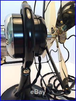 Vintage antique1920s GE Whiz Fan 9 inch oscillating (Restored) Cast Iron Loop