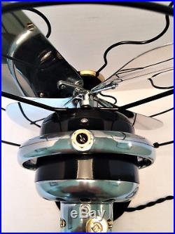 Vintage antique1920s GE10in Oscillating Fan With Aluminum BLS (Restored) L@@K