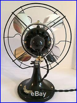 Vintage antique1920s ge 10 inch oscillating two speed fan (Restored) NICE LOOK